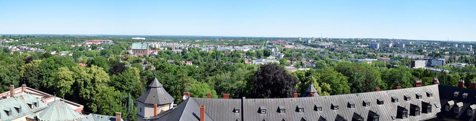 Częstochowa, panorama miasta z wieży klasztoru Jasna Góra