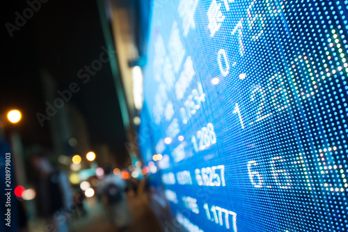 Display of Stock market quotes beside street - Buy this