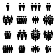 Team Icons Set. Group Of People Icons. Vector Illustration