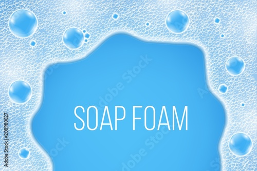 Valokuva  Creative vector illustration of realistic water air soap bubbles isolated on background