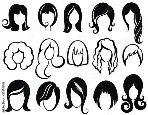 Hairstyle silhouette Fotobehang