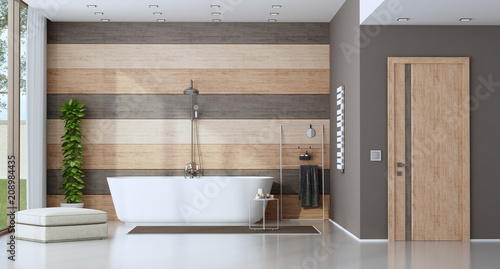 Fotografia, Obraz  Contemporary bathroom with bathtub