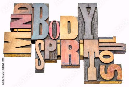 mind, body, spirit and soul  word abstract Slika na platnu