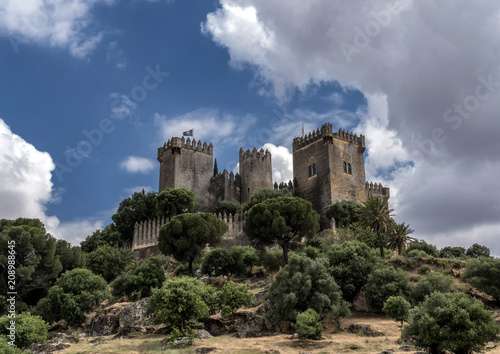 "Photo  Castle of Almodovar del Rio, It is a fortitude of Moslem origin, a Stage of the American producer HBO, for the series ""Game of Thrones"""