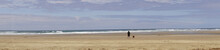 Panorama Of Solitary Walker On...