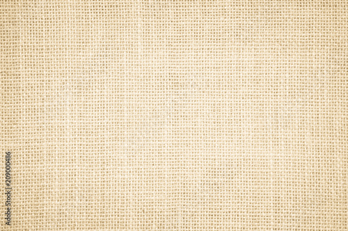 Poster Tissu Pastel abstract Hessian or sackcloth fabric or hemp sack texture background. Wallpaper of artistic wale linen canvas. Blanket or Curtain of cotton pattern with copy space for text decoration.