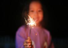 Little Asian Child Girl Enjoy ...