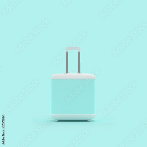 Poster Asia Country Travel suitcase pastel blue color isolated