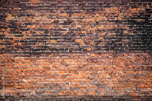 Poster Baksteen muur Old brick wall