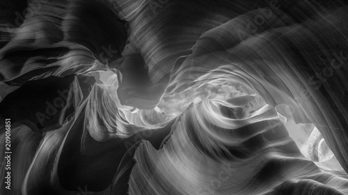Lower Antelope Canyon black and white