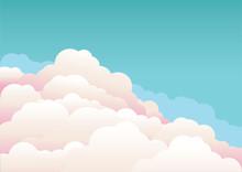 Blue Sky With Beautifull Cloud...
