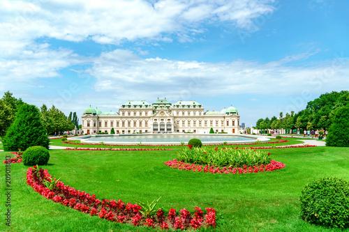Foto op Canvas Wenen Schloss Belvedere in Wien