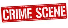 Crime Scene Grunge Rubber Stamp