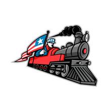 American Steam Locomotive Mascot