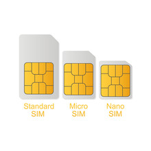 Sim Card With Size Circuit Set
