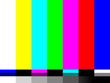 No signal TV test card of vector color bars