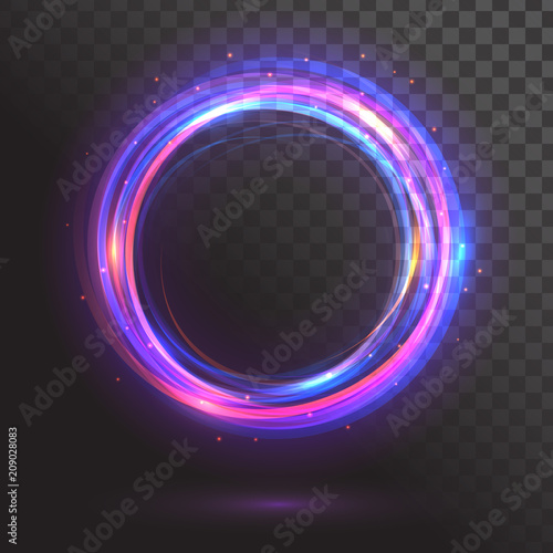 A glowing circle. Round frame Fototapeta