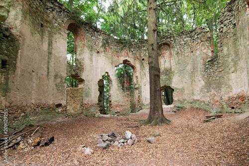 Ruins of the Baroque chapel of Saint Mary Magdalene Canvas Print