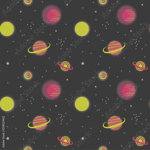 bezszwowy-wzor-z-przestrzenia-planety-ilustracji-wektorowych