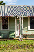 Old Green Weatherboard House I...