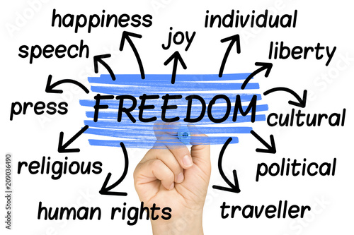Obraz Freedom Word Cloud tag cloud isolated - fototapety do salonu