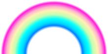 Rainbow Arc Shape, Half Circle...