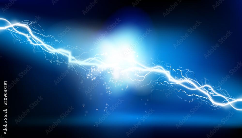 Fototapety, obrazy: Heat lighting. Electrical energy. Vector illustration.