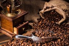Close-up Shot Of Vintage Coffe...