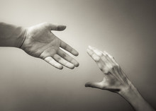 Giving A Helping Hand. Hand Re...