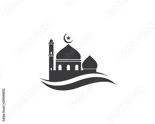 Moslem icon vector Illustration Wallpaper Mural