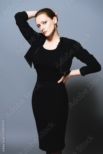 Foto op Plexiglas womenART black dress and jacket