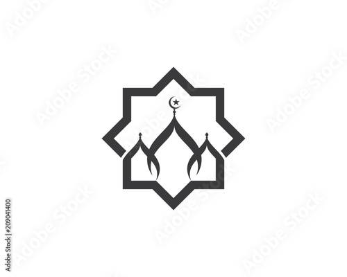 Stampa su Tela Moslem icon vector Illustration