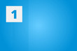 1 - Number one on blue technology background for example as background or concept template