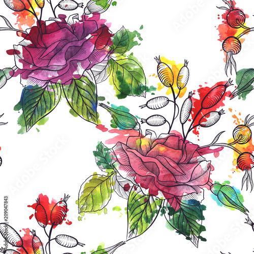 Tapety Klasyczne  vintage-wektor-kwiatowy-wzor-bez-szwu