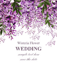 Wedding Invitation Card With W...