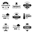 Happy Father's Day Logo, Emblem, Badge, Sticker, Label Set