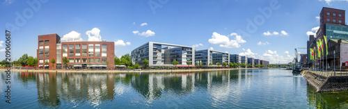 Foto auf AluDibond Europäische Regionen Duisburg, Hafen, Panorama