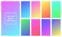 Soft Colors Vector Background Of Gradient Palette
