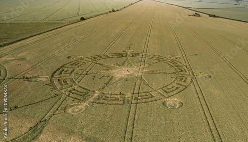 Poster UFO Ackling Dyke Crop Circle Two