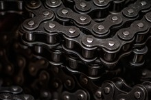 Industrial Driving Roller Chain Close-up