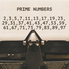 List Of Prime Numbers Below 100, Vintage Type Writer From 1920s