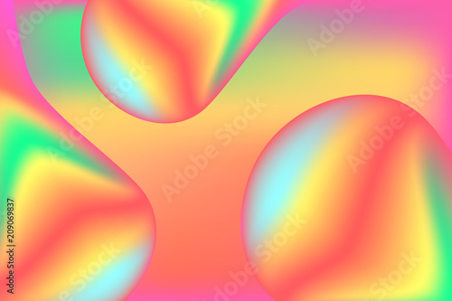 Trendy abstract blur  background in rainbow neon colors.