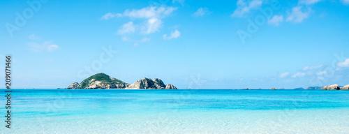 Foto op Aluminium Blauw Aharen Beach, Tokashiki island, Kerama Islands group, Okinawa