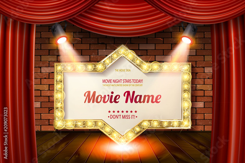 Valokuvatapetti Golden frame in cinematic style