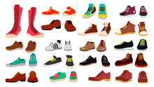 Footwear Set Vector. Fashionab...