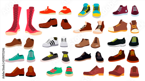Fotografía Footwear Set Vector