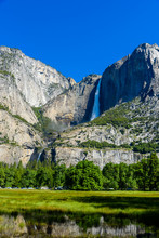 Yosemite Upper And Lower Falls...