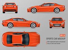Realistic Vector Sports Car