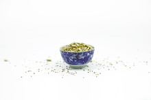 Tiny Blue Bowl With Sunflower ...