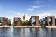The Modern District Of The Danish Capital Of Copenhagen. Denmark. Scandinavian Architecture Design.